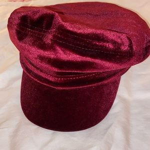 NWOT-Treasure & Bond-Maroon Velvet Newsboy Hat 😍
